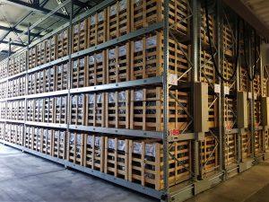 scaffalature industriali compattabili portacontenitori in legno
