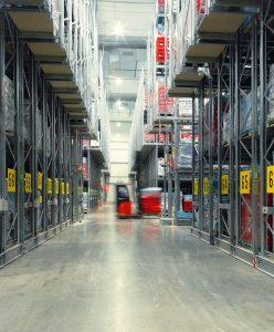 magazzino in cella frigorifera